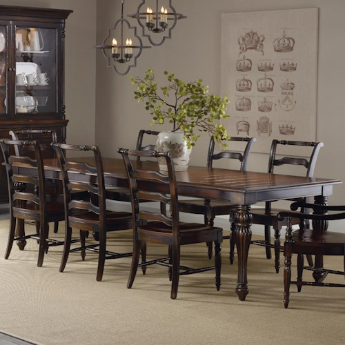 Hamilton Home Eastridge Rectangle Dining Table with 2 18-Inch Leaves