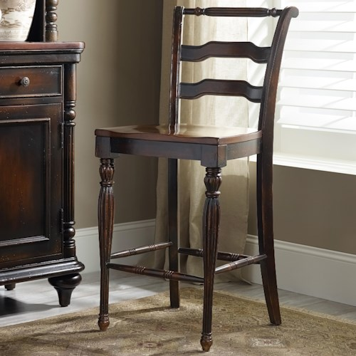 Hamilton Home Eastridge Counterstool with Turned Legs