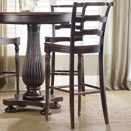 Hooker Furniture Eastridge Barstool with Turned Legs