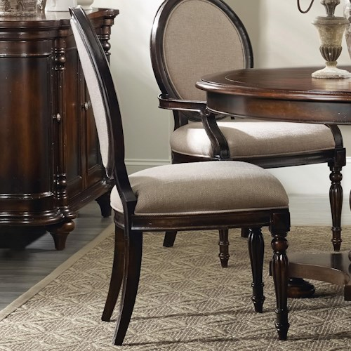 Hooker Furniture Eastridge Oval Back Side Chair with Decoratively Turned Legs