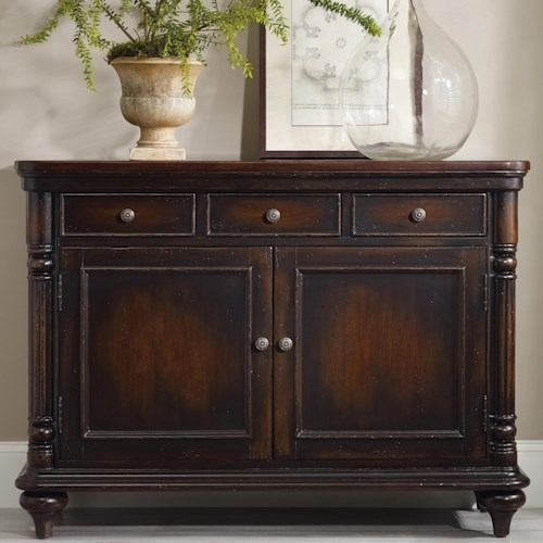 Hooker Furniture Eastridge Buffet with 3 Felt Lined Drawers