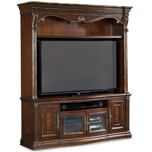 Hooker Furniture Grand Palais 2 Piece Entertainment Console with 4 Doors