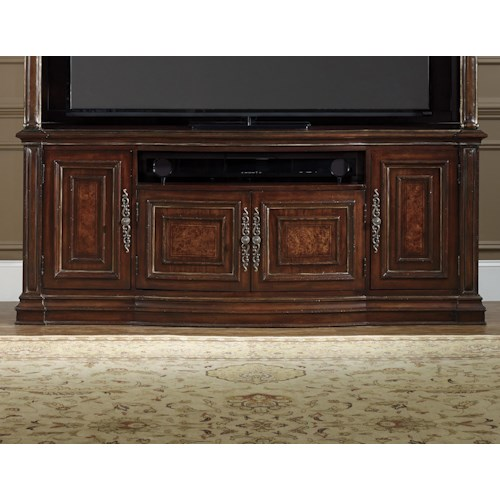 Hooker Furniture Grand Palais Entertainment Console 4 Doors and Electrical Outlet