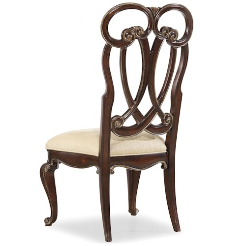 Hooker Furniture Grand Palais Splat Back Side Chair with Cabriole Legs
