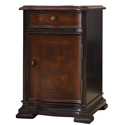 Hooker Furniture Grandover Chairside Chest with 1 Door and 1 Drawer