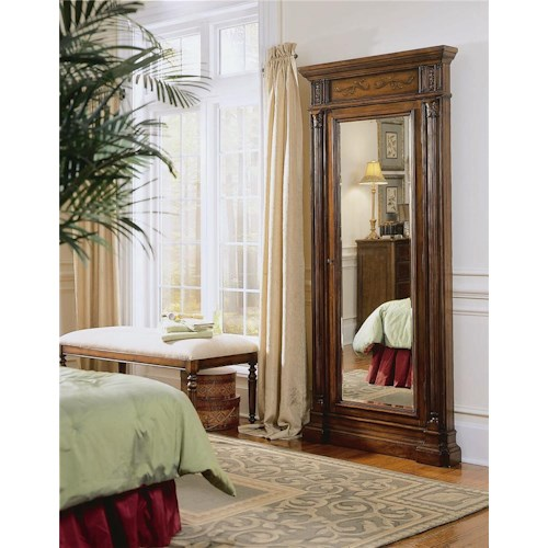Hooker Furniture Seven Seas Floor Mirror with Jewelry Armoire