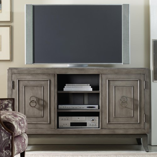 Hooker Furniture Seven Seas 60-Inch Entertainment Console with 2 Doors and 1 Open Component Area