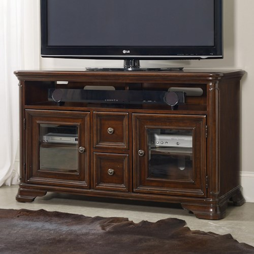 Hooker Furniture Haddon Hall 54 Inch Entertainment Console with Glass Doors