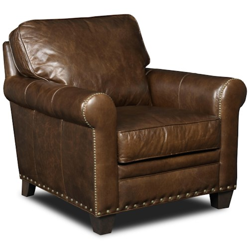 Hamilton Home Hemingway Eden Transitional Chair with Nailhead Trim