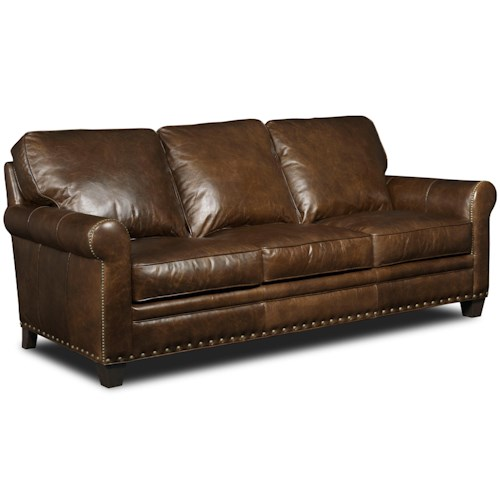 Hooker Furniture Hemingway Eden Transitional Sofa with Nailhead Trim