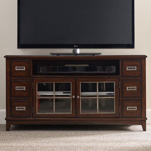 Hooker Furniture Latitude Entertainment Console with 6 Drawers