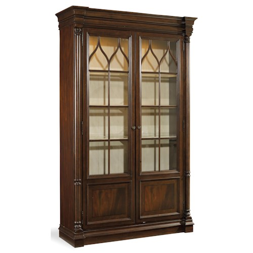 Hooker Furniture Leesburg Display Cabinet with Built-In Touch Lights