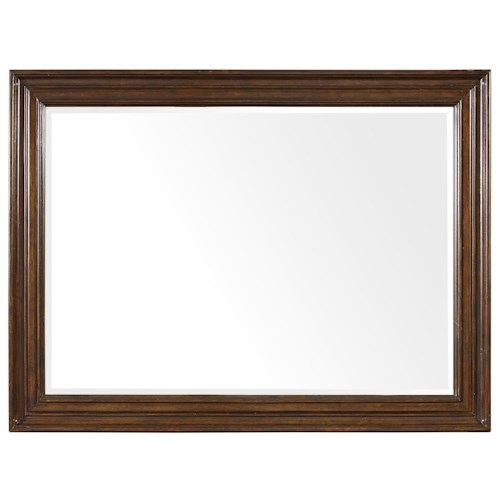Hooker Furniture Leesburg Landscape Mirror with Mahogany Veneers