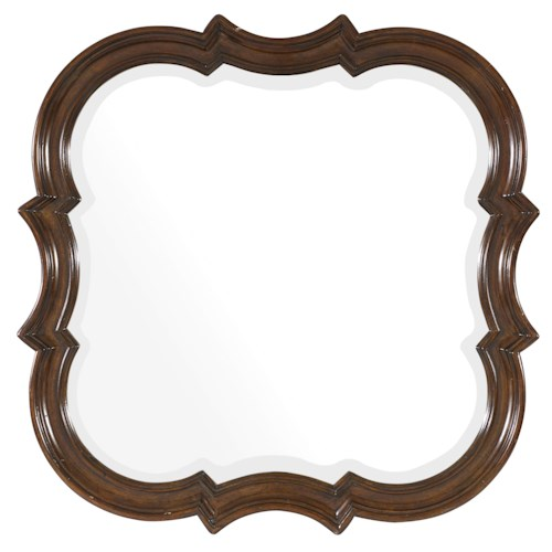 Hooker Furniture Leesburg Accent Mirror with Mahogany Veneers