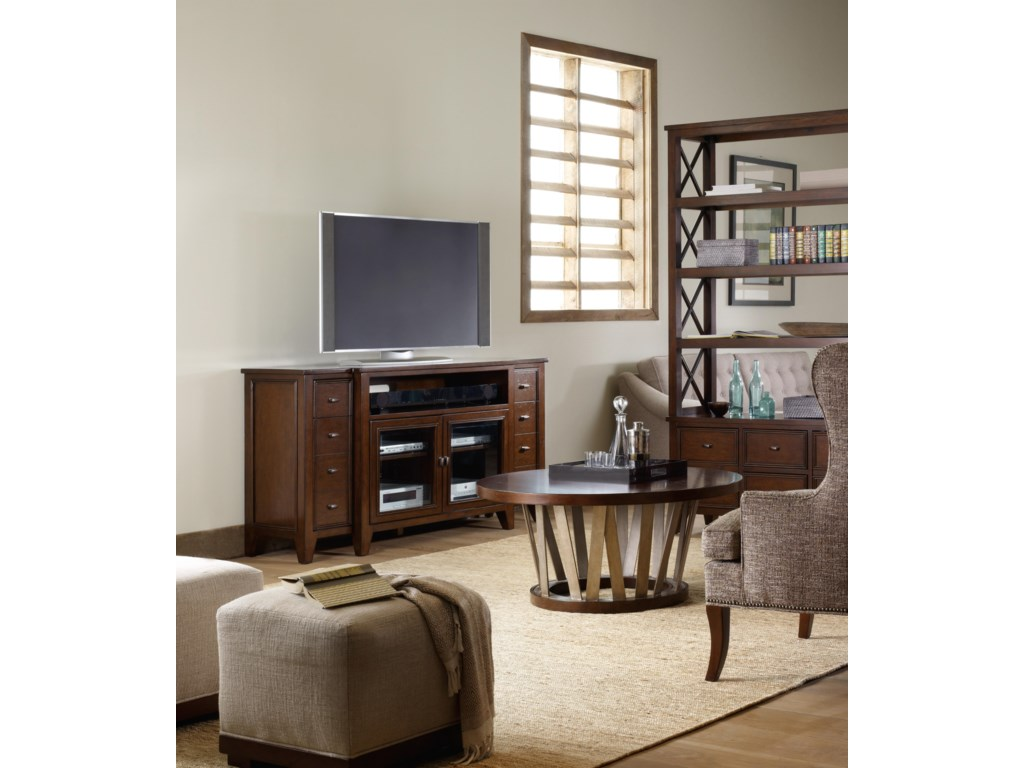 Shown with Entertainment Console and Room Divider Open Storage Case