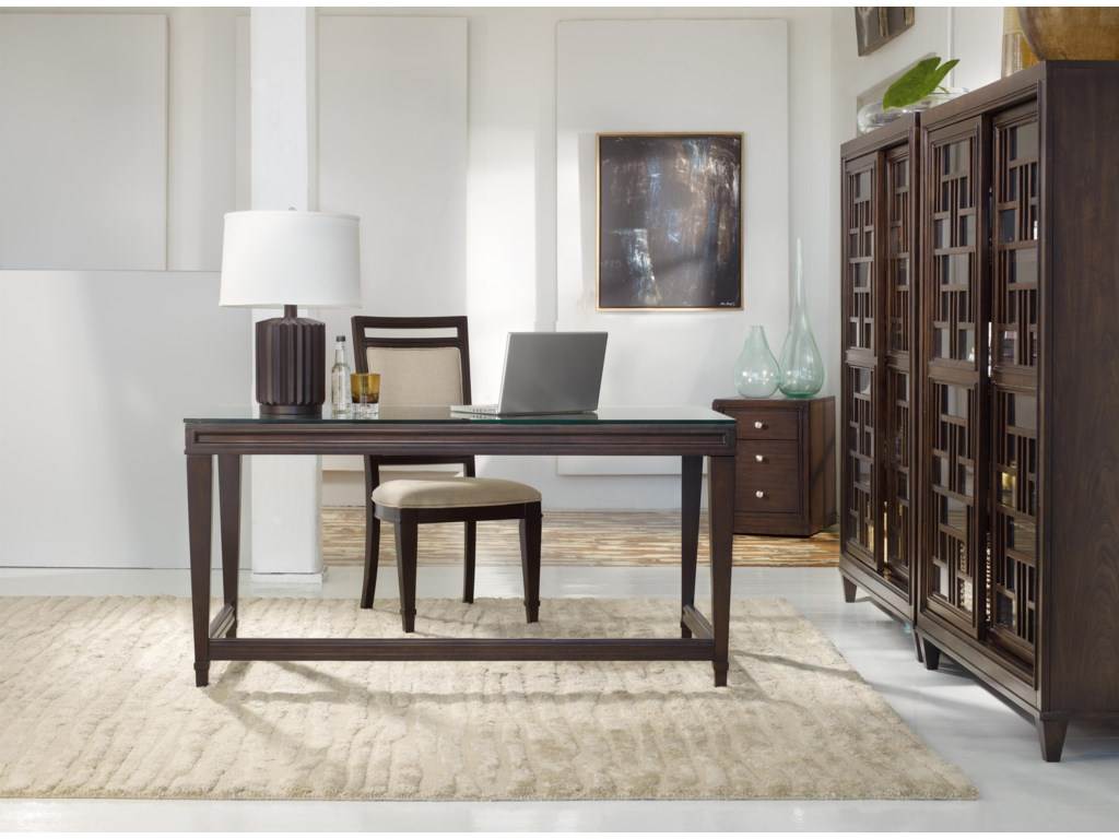 Shown with Writing Desk, Upholstered Back Side Chair, and Mobile File