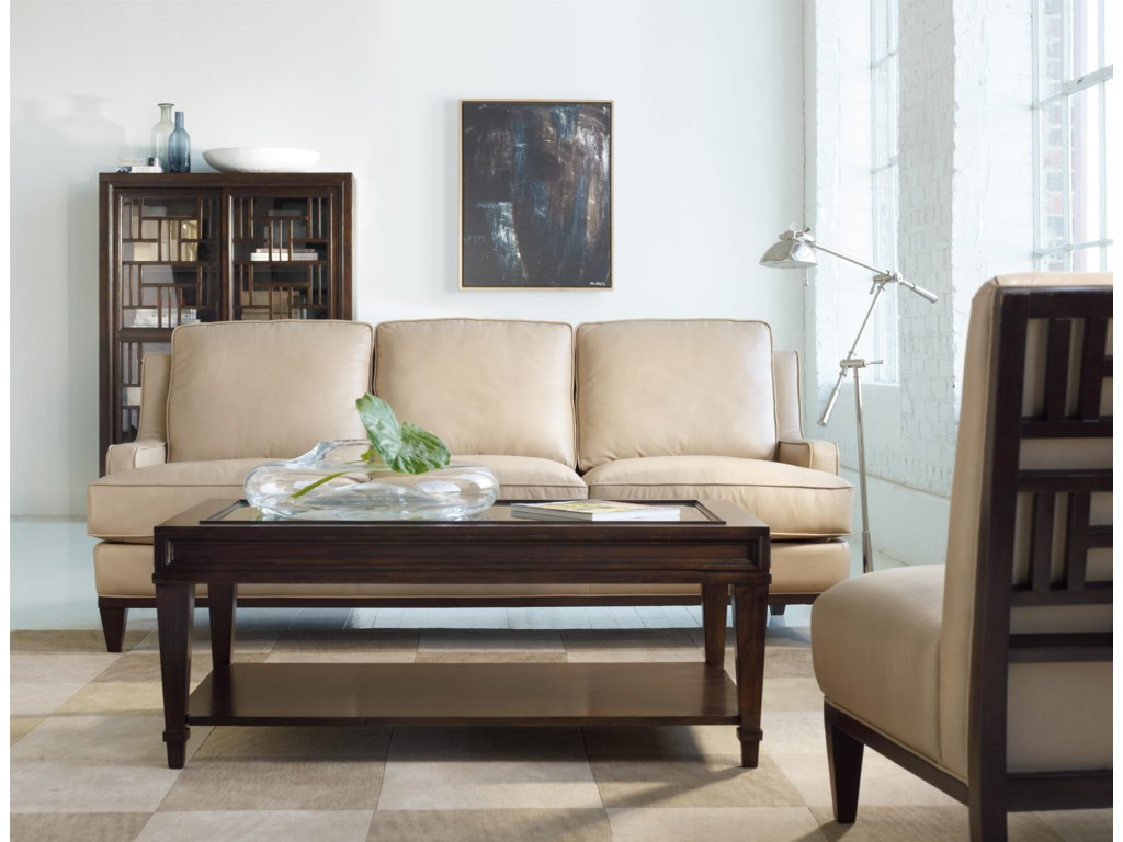 Shown with Leather Sofa, Cocktail Table, and Leather Accent Chair