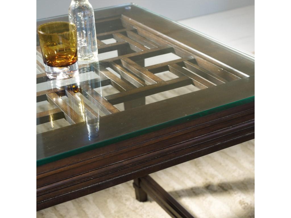 A Half-Inch Thick Glass Top Allows You to See the Beautiful Fretwork Patter Beneath