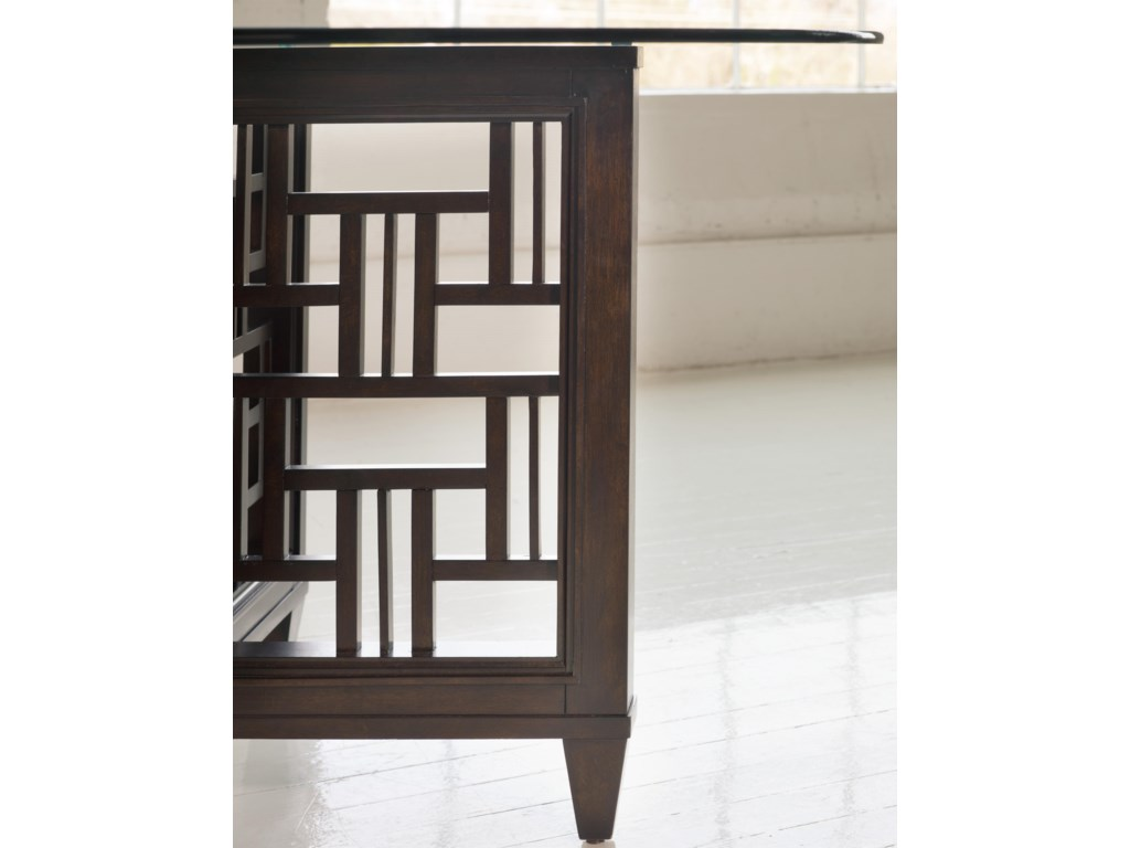 Fretwork On the Table Base Brings Eye-Catching Appeal to the Set