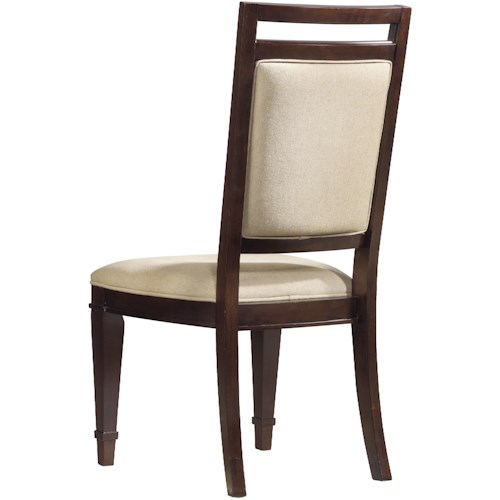 Hooker Furniture Ludlow Dining Side Chair with Comfortably Upholstered Cushion Seat & Back Plus Stylish Tapered Legs