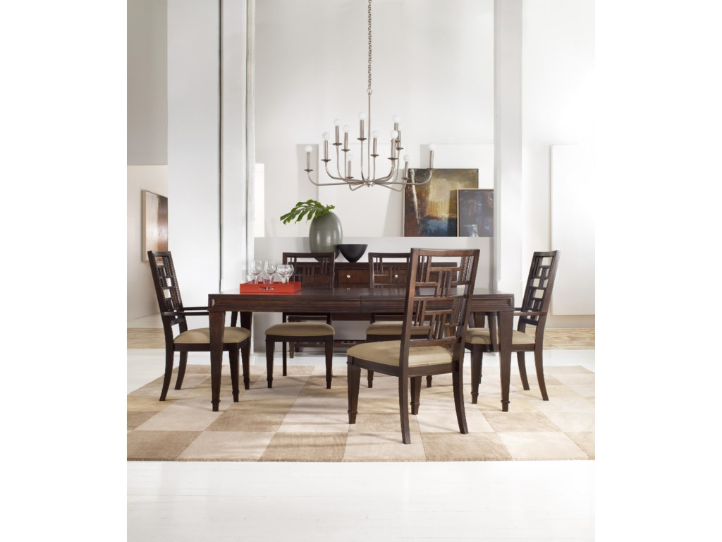 Shown with Rectangular Dining Table and Fretback Arm & Side Chairs