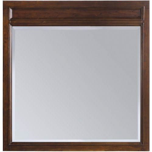 Hooker Furniture Ludlow Simple and Sleek Wood-Framed Mirror with Subtle Decorative Molding at Top of Frame