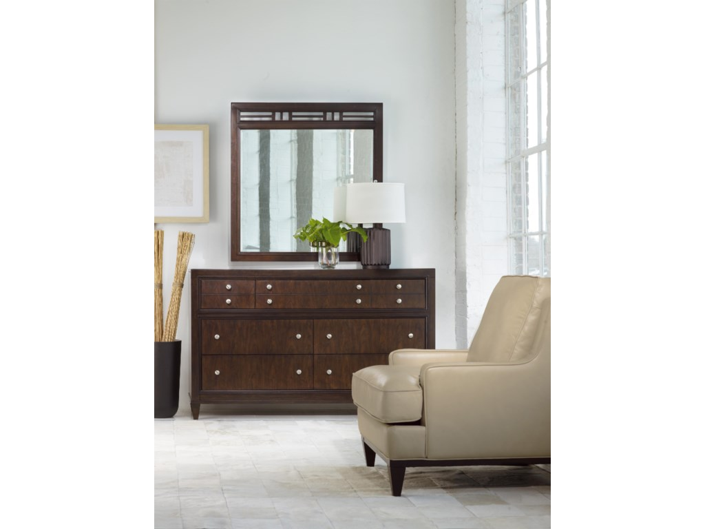 Shown with Dresser and Leather-Upholstered Chair