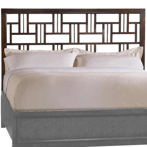 Hooker Furniture Ludlow Queen-Size Headboard with Decorative Cutout Fretwork Detailing