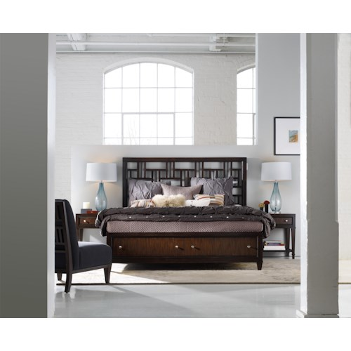 Hooker Furniture Ludlow 4 Piece Queen Bedroom Group