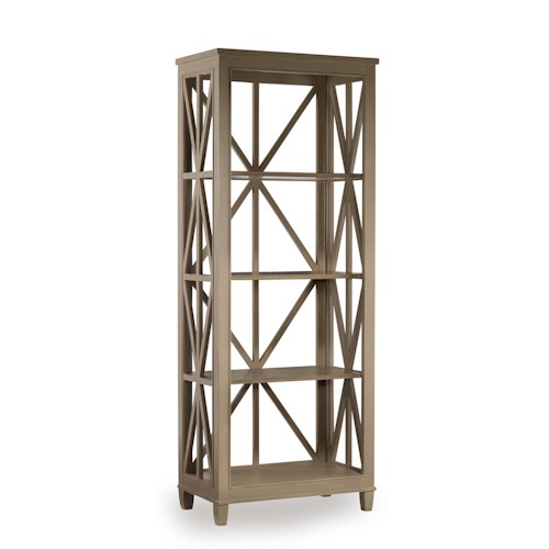Hooker Furniture Mélange Holden Etagére Bookcase with Open Geometric Frame
