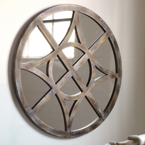 Hooker Furniture Mélange Rafferty Wall Mirror with Compass Fretwork