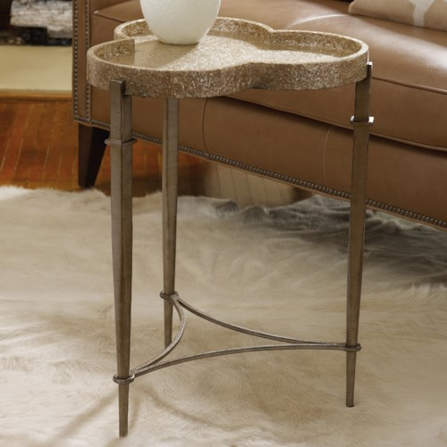 Hooker Furniture Mélange Clover Accent Table with Triangle Stretcher