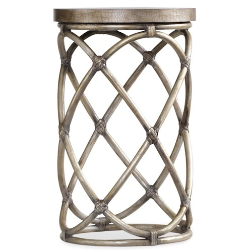 Hooker Furniture Mélange Rattan Cylindrical Accent Table