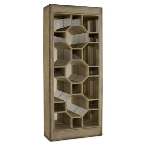 Hooker Furniture Mélange Show-Off Display Cabinet with Octagon Compartments