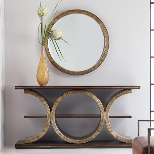 Hooker Furniture Mélange Presidio Console Table and Mirror Group