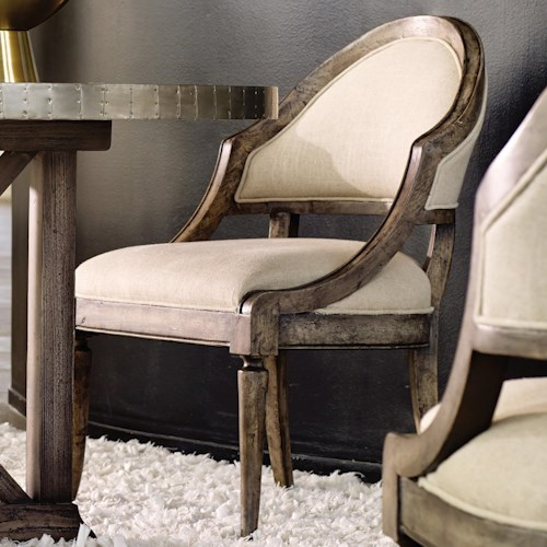 Hooker Furniture Mélange Bentley Dining Chair with Sloped Sides