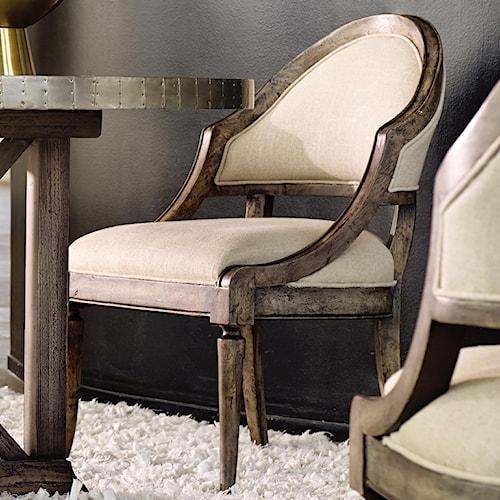 Hooker Furniture Mélange Bentley Dining Chair with Sloped Sides