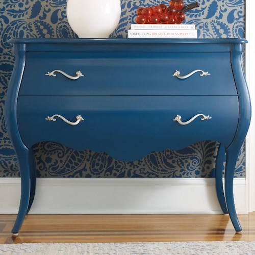 Hooker Furniture Mélange Regatta Blue Bombe Chest with 2 Drawers