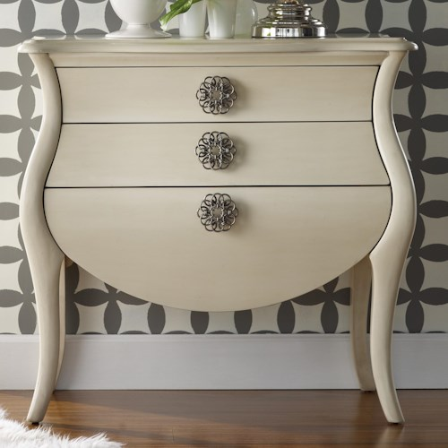 Hooker Furniture Mélange 3 Drawer Pippa Bombe Chest