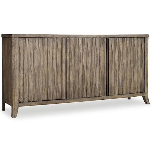 Hooker Furniture Mélange 3 Door Kashton Credenza with Basket Weave Detail