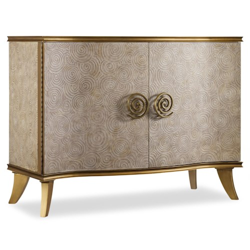 Hooker Furniture Mélange Golden Swirl Chest with Wire Management