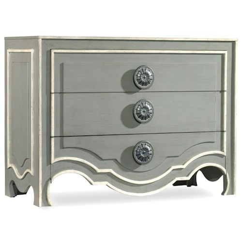 Hooker Furniture Mélange Roselle Chest with 3 Drawers