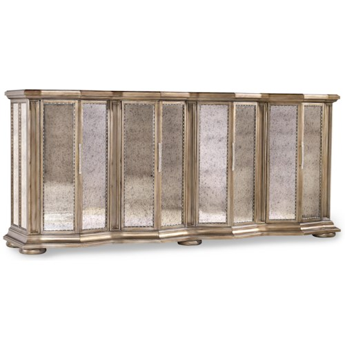 Hooker Furniture Mélange Majesty Credenza with 4 Mirrored Doors