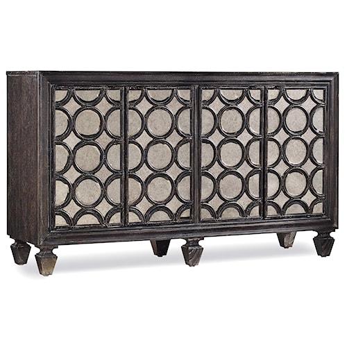 Hooker Furniture Mélange Declan Credenza with Mirrored Door Fronts