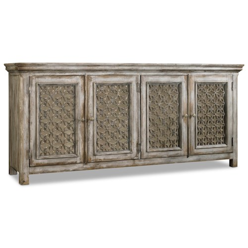 Hooker Furniture Mélange Dorian Credenza with 4 Doors