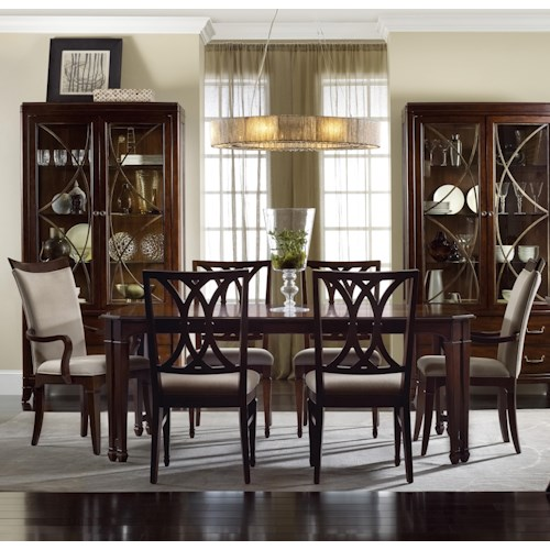 Hooker Furniture Palisade 7 Piece Dining Set with Rectangular Dining Table