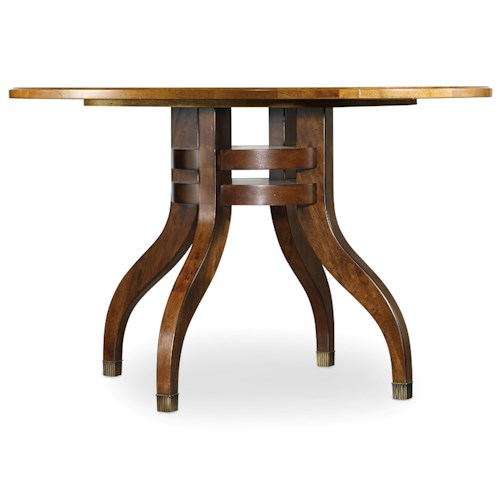Hooker Furniture Palisade 48 Inch Round Pedestal Dining Table with