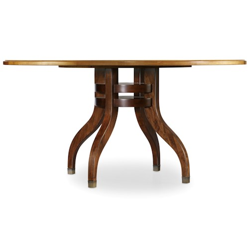 Hooker Furniture Palisade 60 Inch Round Single Pedestal Dining Table