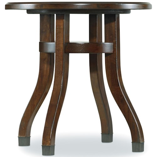 Hooker Furniture Palisade Round End Table with Splayed Pedestal