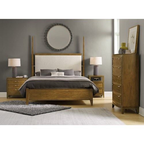 Hooker Furniture Retropolitan Queen Bedroom Group